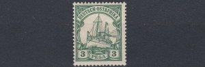GERMAN EAST AFRICA  1901  S G 16  3P  GREEN    MNH