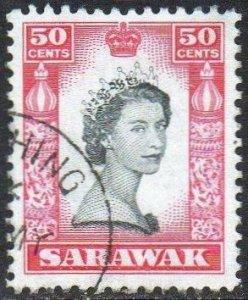 Sarawak 1957 50c QEII used