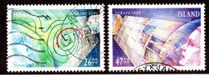 ICELAND 738-9 USED SCV $3.50 BIN $1.20 EUROPA