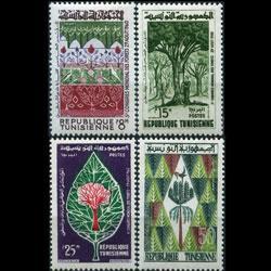 TUNISIA 1960 - Scott# 378-81 Forestry Set of 4 LH