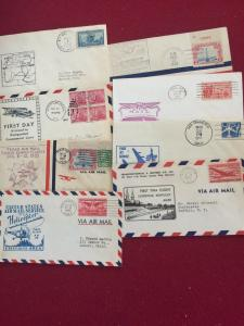 US variety of 8 First Flight covers Very interesting don't miss out on it