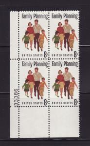 United States 1455 Plate Block Set MNH Family Planning