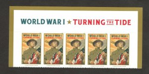 5300 WW1: Turning The Tide Header With 5 Stamps Mint/nh FREE SHIPPING