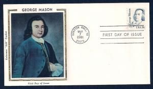 UNITED STATES FDC 18¢ George Mason 1981 Colorano