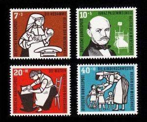 GERMANY DEUTSCHE BUNDESPOST SEMI-POSTAL SET SCOTT #B350-B353 MNH-OG 1956