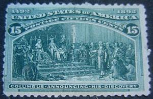 U. S. 238 Mint FVF SCV$250.00 Bright Color