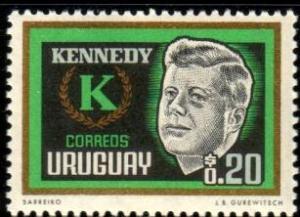 President John F. Kennedy, Uruguay stamp SC#714 Mint