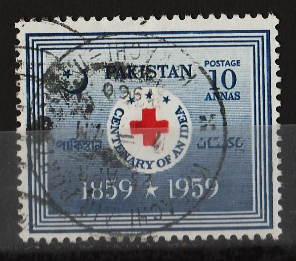 Pakistan 1959 Centenary of the Red Cross 10A (1/2) USED