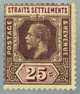 Malaya Straits Settlements KGV 1914 25c MCCA MH SG#205b M3109