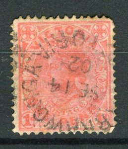 AUSTRALIA; VICTORIA 1890s-1900 early QV issue used 1d. value + POSTMARK
