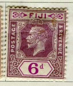 FIJI; 1922-27 early GV issue fine Mint hinged 6d. value