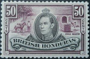 British Honduras 1938 GVI Fifty Cents SG 158 mint