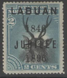 LABUAN SG84 1896 2c BLACK & BLUE MTD MINT