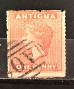 Antigua 1867 #3(2of3), Used, CV $32.50