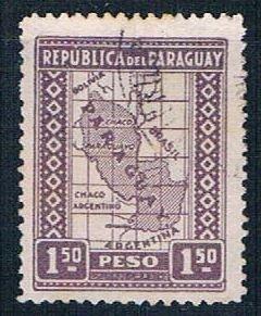 Paraguay Map 15 - pickastamp (PP9R305)