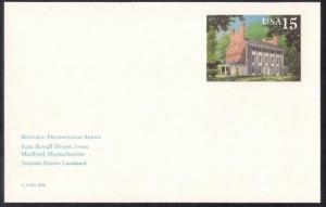 UX148 15 cent Isaac Royall House Postal Card mint NH XF