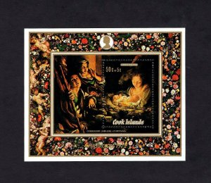 COOK IS - 1972 - CHRISTMAS - NATIVITY - CORREGGIO - PAINTING - MINT MNH S/SHEET!