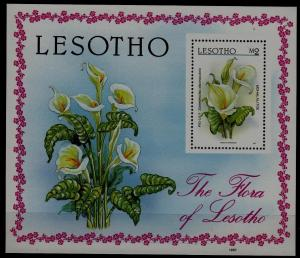 Lesotho 591 MNH s/s Flowers SCV3.25