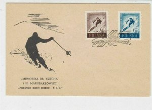 Poland 1957 Memorial BR. Czecha i H.Marusarzowny SkisCancel FDC Stamp Cover23046