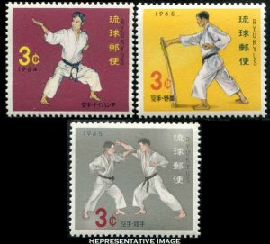Ryukyu Islands 1992 125-127 Mint never hinged.