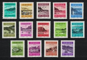 Jersey Postage Due Stamps 14v Jersey Harbours SG#D33-D46