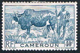Cameroun 306 MLH Zebu and herder (BP643)