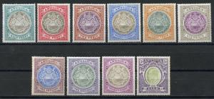 ANTIGUA  COLONIAL SEALS SCOTT#21/30 SG#31/40 MINT HINGED FULL ORIGINAL GUM