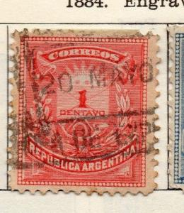 Argentine Republic 1884 Early Issue Fine Used 1c. 112933