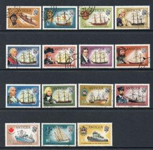 Antigua 1970 QEII p/set (15v.) wmk sideways used