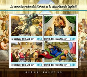 Togo Art Stamps 2020 MNH Giovanni Battista Tiepolo Paintings 4v M/S