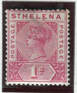 ST. HELENA; 1890-97 early QV issue Mint hinged 1d. value