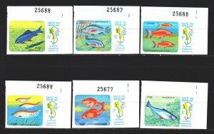 Laos. 1983. 670U-75U. Fish, fauna. MNH.