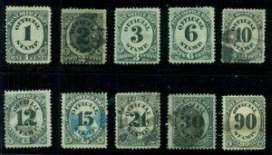 US #O47-56, Complete Post Office Official set, used/unused, Scott $216.00