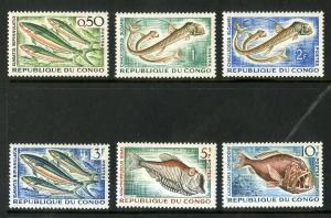 CONGO 96-101 MNH SCV $3.45 BIN $1.75 MARINE LIFE