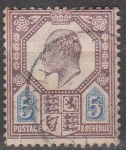 Great Britain #134  F-VF  Used CV $22.50 (S9281)