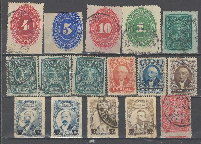 COLLECTION LOT # 2570 MEXICO 16 STAMPS 1864+ CV+$14