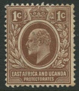 East Africa & Uganda -Scott 31- KEVII Definitive -1907 -Mint -Single 1c Stamp