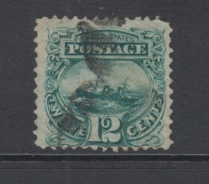 US Sc 117 used 1869 12c S.S. Adriatic G Grill, Scarce