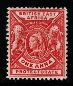 BRITISH EAST AFRICA SG66a 1896 1a BRIGHT ROSE-RED MTD MINT