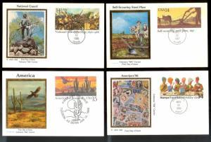 UNITED STATES (30) FDCs Colorano Cachet Postal Cards c1980s-1990s