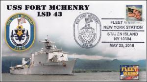 2016, USS Fort McHenry, Fleet Week NY, Navy, LSD 43, 16-270