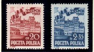 Poland 582 - 583  MNH cat $ 4.00