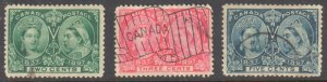 CANADA #52-53-54 USED JUBILEE -- C$84.00