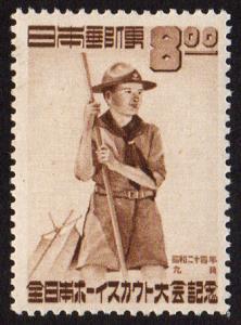 Japan #467  mh - 1949 Boy Scout Jamboree