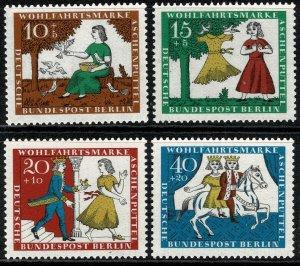 GERMANY BERLIN 1965 HUMANITARIAN FUND SET MINT (NH) SG B277-B280 P.14 SUPERB