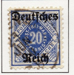 Germany 1920 Early Issue Fine Used 20pf. Optd NW-100744