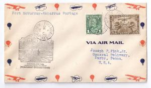 Canada FFC Fort McMurray to Embarras Portage 1931 Airmail e