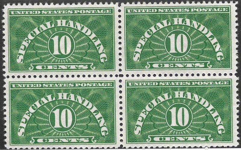 Doyle's_Stamps: Fresh 1955 Block of 10c Special Handling Stamps, Scott #QE1a**