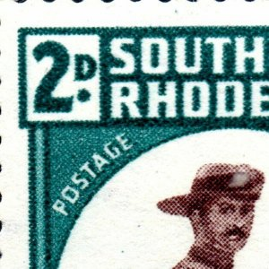1943 Southern Rhodesia Sg61var with 4 Minor Flaws Unmounted Mint