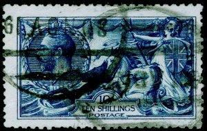 SG411 SPEC N70(5), 10s deep (INTENSE) brt blue, USED. Cat £3000. DE LA RUE